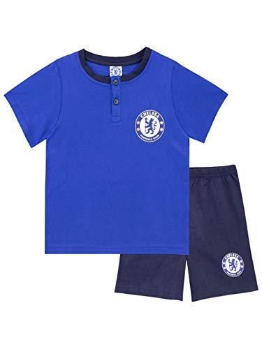 Chelsea F.C. Pigiama a Maniche Corte per Ragazzi Football Club Blu 7-8 Anni