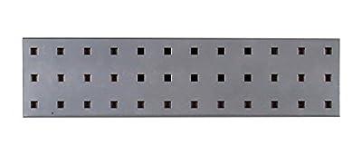 "Triton Products LocBoard LBS-4S Steel Square Hole Pegboard Strip, 18"" x 4.5"", Silver"