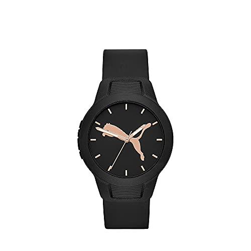 PUMA Damen Reset , Schwarz Polycarbonate Uhr, P1006