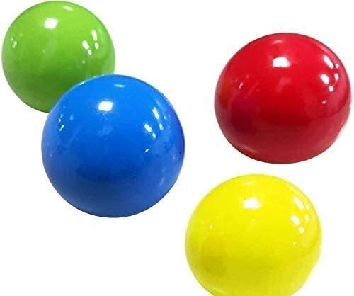 Juego de bolas pegajosas de 10 unids, bolas de descompresión Bolas de alivio de estrés Stick to techo Techo de pared, Juguetes de compresión Alivio de estrés, Análisis de estrés Bolas de pared pegajos