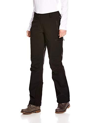 Tatonka Wanderhose  Bowles W's Pants - regenfeste Softshell Hose mit Seitentaschen - robust und bequem - Damen - Größe 40 - Regular Fit - PFC-frei - schwarz