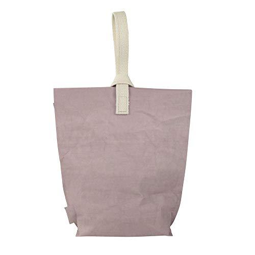 BIOZOYG Lunchbox Yummy Plus Größe L - umweltfreundliche Tasche für Lunchbox aus waschbarem Papier I Lunchtasche faltbar im Urbanstyle Made in Germany - Lunchbag groß 23 x 33 cm Natural Beere