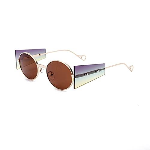 WOJING Redondo Vintage Gafas De Sol De Las Mujeres Oval Steampunk Gafas De Sol Retro Punk Gafas De Moda Gafas Gafas De Sol Sombras UV400