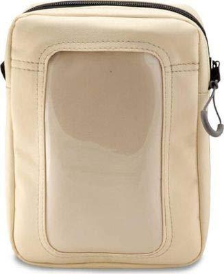RAEDA Sportbag Umhängetasche speziell für Rollstuhlfahrer mit einem Gurt für Fixierung am Bein, Dokumententasche mit Handyfach mit Touchscreen. (creme mit Gurt S)