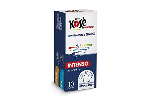 Kosè by Kimbo Capsule Intenso Compatibili Nespresso, 10 Astucci da 10 Capsule, (Totale 100 Capsule)