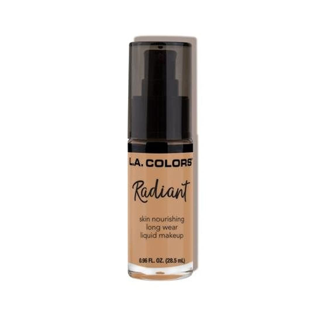 シルク薄い持続する(3 Pack) L.A. COLORS Radiant Liquid Makeup - Suede (並行輸入品)