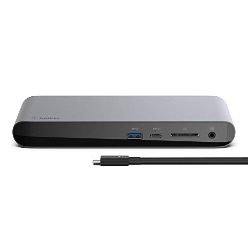 %21 OFF! Belkin Thunderbolt 3 Dock Pro w/ 2.6ft Thunderbolt 3 Cable (Thunderbolt Dock for MacOS and ...