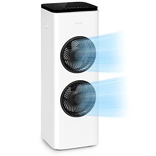 KLARSTEIN Windsurfer - Enfriador de Aire, 3 en 1, Ventilador, Humidificador, 105 W, Flujo de Aire 534 m³/h, 3 velocidades, 3 Modos: Normal, Natural y Reposo, Oscilación, Mando a Distancia, Blanco