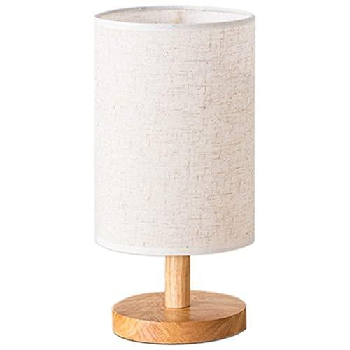 LATOO Lámpara de Mesa Lámpara de mesa moderna y creativa, luz de escritorio sencilla para leer por la noche con pantalla de tela de lino Dormitorio Oficina Dormitorio de chicas, blanco (Color: blanco)