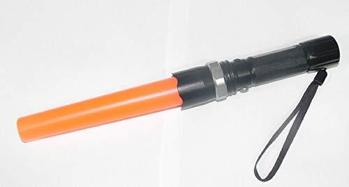 Linterna tactica policial recargable 12w con cono de señalizacion naranja