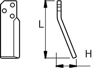 AMA - Martillo triturador izquierdo 225 H 75 Ø perforación 14,5