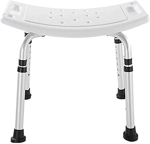MUMUMI Duschsitze, Duschhocker Dusche Hocker Badstuhl Badezimmer Sitz-Lightweight Aluminium-Einstellbar Höhen-Rutschfeste Badestuhl-Badestuhl Für Ältere, Senior, Handicap Deaktiviert