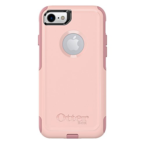 OtterBox COMMUTER SERIES Case for iPhone 8 & iPhone 7 (NOT Plus) - Retail Packaging - BALLET WAY (PINK SALT/BLUSH) (Renewed)