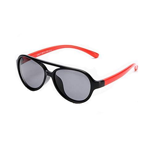 Suertree Polarisierte Sonnenbrille Kids Square Silikon Flexible Anti UV 400 Brille Jungen Mädchen Anzug für 3-12 Jahre red leg black frame