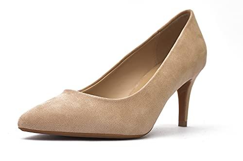 Zapato de Salón con Punta Cerrada - Zapatos de Tacón Mujer -...