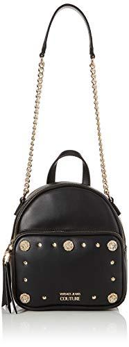 Versace Jeans Couture Damen Bag Rucksackhandtasche, Schwarz (Nero), 12x22x19 centimeters