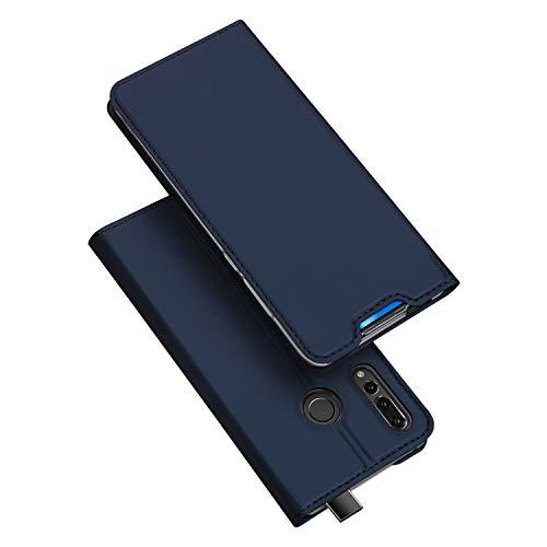DUX DUCIS Hülle für Honor 9X, Leder Klappbar Handyhülle Schutzhülle Tasche Hülle mit [Kartenfach] [Standfunktion] [Magnetisch] für Huawei Honor 9X (Blau)