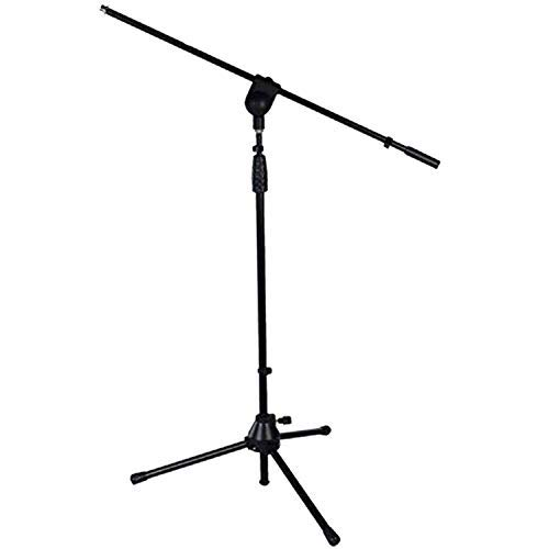 """LyxPro Microphone Stand Boom Arm Tilting Rotating Floor Podium Stage or Studio Strong Durable And Foldable Height 38.5""""- 66"""" Extends Arm to 29 3/8"""" Comes With 3/8"""" and 5/8"""" mount Adapters TMS-1"""