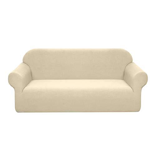 Granbest Funda de sofá de 3 plazas elástica impermeable - Protector de sofá de tela Super suave [Beige - Sofá XL]