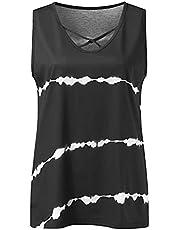 Zomer dameskleding Diagonale strepen borstband Vest T-Shirt