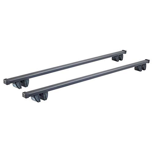 Cruz Spezifischer Stahl Dachträgerzur Montage an traditionelle Dachrelinge Schwarz