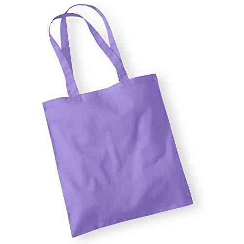 Westford Mill - Baumwoll-Tragetasche mit langen Henkeln / Violet, One