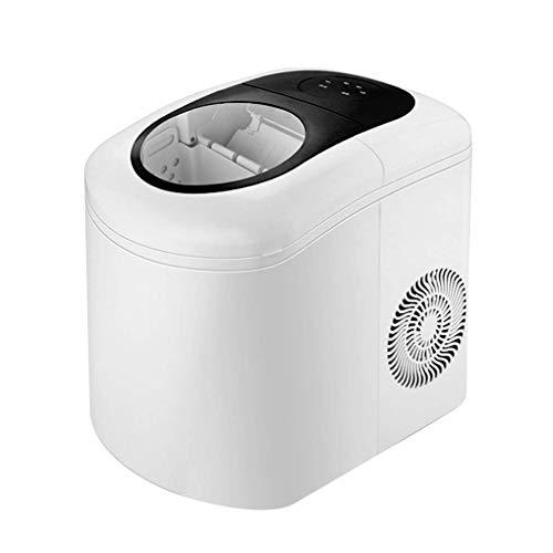 A08Portable Máquina de hielo Maker for encimera, los cubos de hielo listo en 6 minutos, hacer hielo 10-20kg En 24 Horas, perfecto for fiestas bebidas mezcladas, cafetera eléctrica de hielo con pala y
