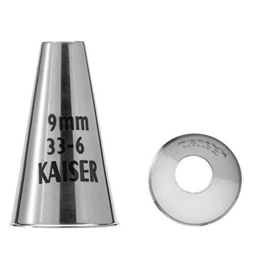 Kaiser Lochtülle 9 mm, Spritztülle, Edelstahl rostfrei, falz- und randfrei