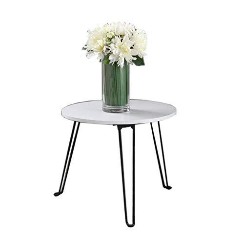 Jcnfa-bijzettafel Opklapbare salontafel met houten afwerking en stalen constructie onderhandelen kleine ronde tafel woonkamer moderne bijzettafel,3 grootte