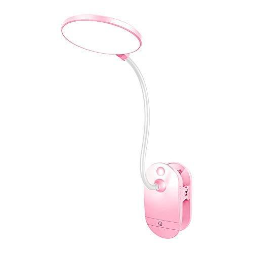 VOVOVO Leselampe Klemmen, LED Klemmleuchte Dimmbar Schreibtischlampe Augenschutz Flexible Nachttischlampe nachladbare klemmlampe Kinder mit Touch-Dimmer, 3-Stufe Helligkeit