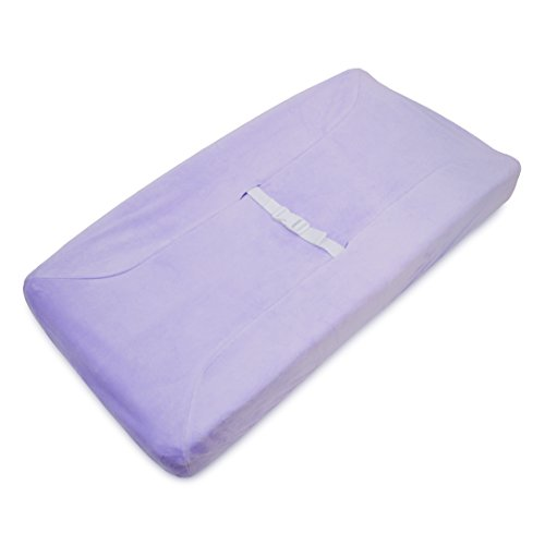 TL Care Heavenly Soft chenille Fitted Contoured Changing Pad Cover, Lavender by TL Care