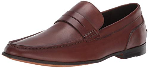 Kenneth Cole REACTION Men's Crespo Loafer F Penny, Cognac, 7.5 M US