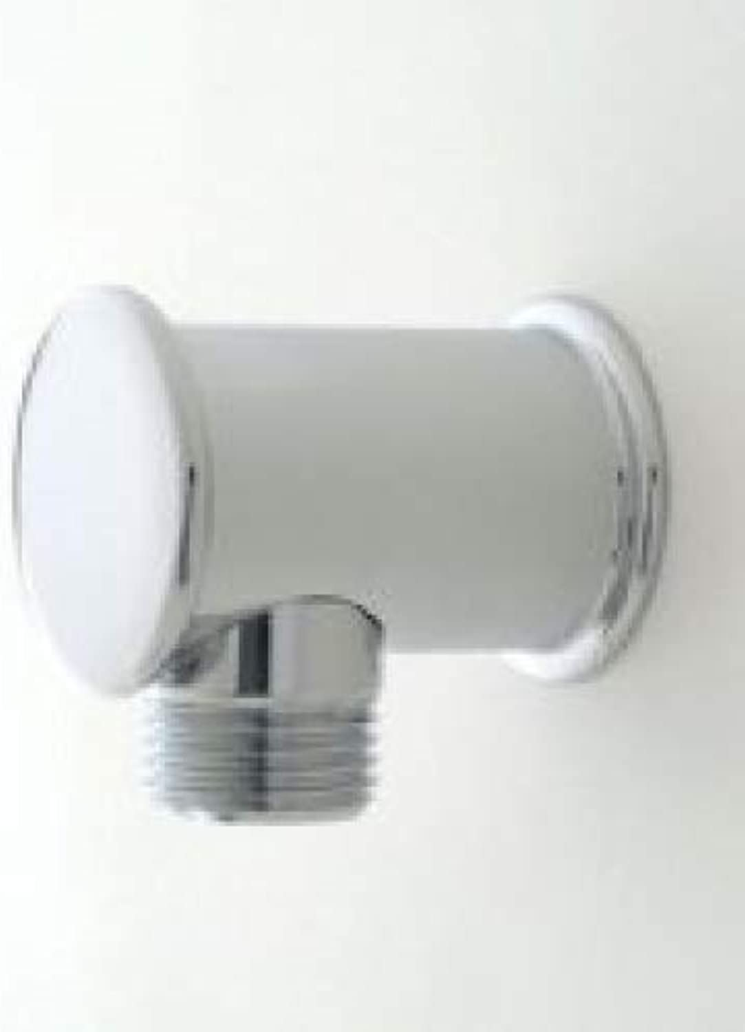 Jaclo 6485-SC Deluxe Hand Shower Wall-Mounted 1 2  Male x 1 2  Female Supply Elbow, Satin Chrome