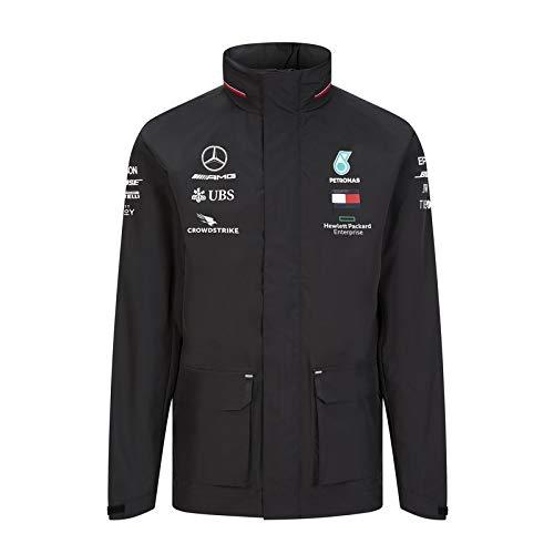Officiële Formule 1 Merchandise - Mercedes-AMG Petronas 2020 - Team Regenjas - Team en sponsorlogo's - Zwart - Maat: XS