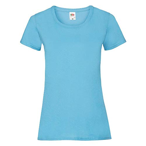 Fruit of the Loom - Lady-Fit Valueweight T - Modell 2013 XXL,Sky Blue