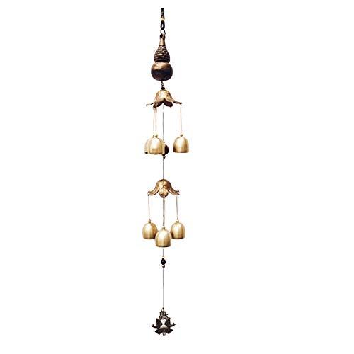 Kupfer Wind Glockenspiel Ornament Metall Windspiel Chinesisch Windspiel Elefant Windspiel Doppelwindspiel Schmetterling Glocke Ornament Wohnzimmer Hof TüR Windspiel Home Dekoration Antikes Kupfer