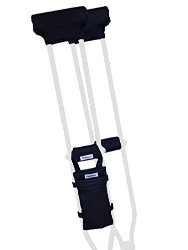 CRUTCHEZE Crutches Pads and Crutch Bag 5 Piece Set. Premium, Made in USA Underarm Pads, Hand Grips and Pouch - Surgery and Injury Recovery Accessories