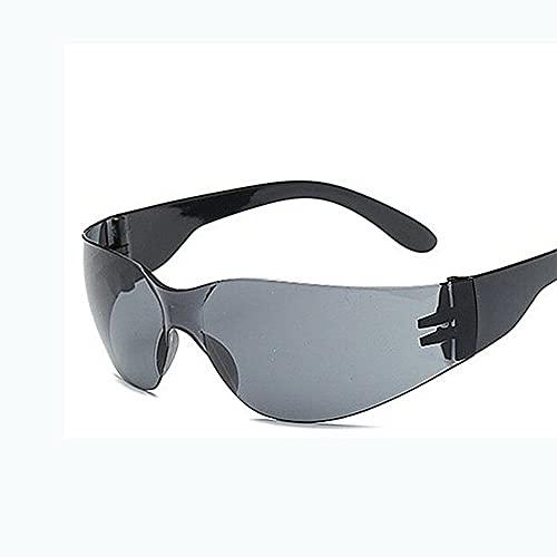Gafas de manejo a Prueba de explosiones de PC, Gafas de Sol para Montar al Aire Libre, Almohadillas de Nariz Ajustables Anti-UV Gafas de Sol, para Deportes Senderismo Viajes de esquí