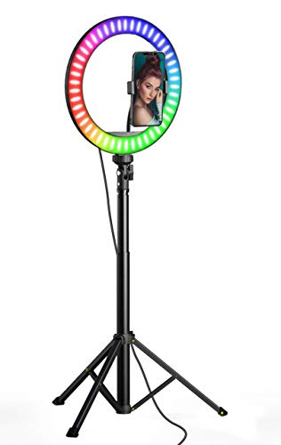 miracase MOVING LIFE LED Selfie Ring Licht mit Fernbedienung, 10