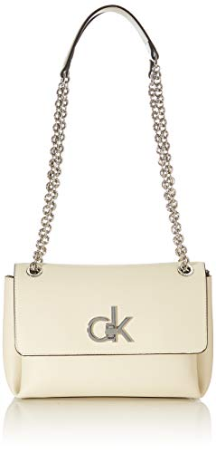 Calvin Klein, EW CONV FLAP XBODY MD para Mujer, gris, 28 Inches, Extra-Large