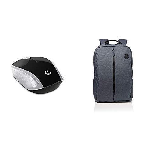 HP: Ratón Inalámbrico 200 con Perfil Redondeado  Color Plateado   Value Backpack 15.6