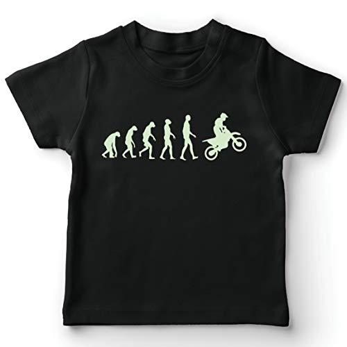 lepni.me Camiseta para Niño/Niña Evolución del Motocross Equipo de Moto Ropa de Carreras Todoterreno (9-11 Years Negro Fluorescente)
