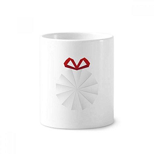 Weiß Abstrakt Weihnachten Origami Dekoration Keramik Zahnbürste Stifthalter Becher weiß Tasse 350ml Geschenk