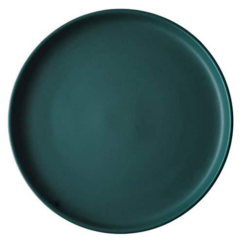 Plato 15,3/20,5/25,5 cm Plato Occidental de cerámica Disco Verde Vajilla para el hogar, Plato para Pasteles, Plato para Ensalada, Plato para Pasta (tamaño: 20,5 cm) zzyyllyz