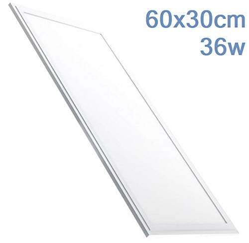 Panel LED 60x30 cm, 36w. Color Blanco Neutro (4500K). 2800 Lumenes. Driver incluido. A++