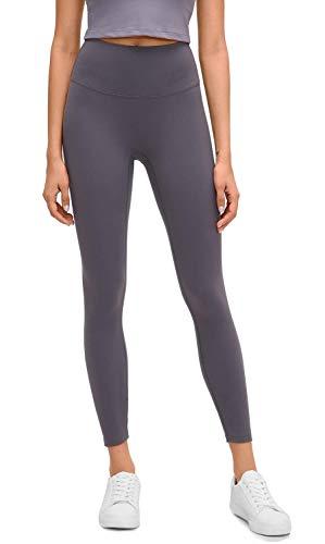 Lemedy Women Naked Feeling High Waist Tight Yoga Pants Workout Athletic Leggings (Grey, XS)