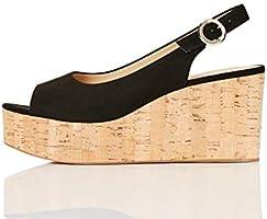 Amazon Brand - find. Scuba-s-1a-5, Women's Open Toe Heels