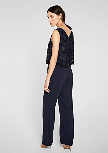 s.Oliver BLACK LABEL Damen Jumpsuit, Blau (Dark Ocean) - 5