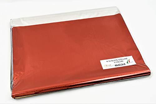 Sobres de regalo en paquetes surtidos – Varios colores, tamaños y cantidades con o sin cinta adhesiva (Multicolor, estrellas, 40 x 57,5 + 4 unidades 50)