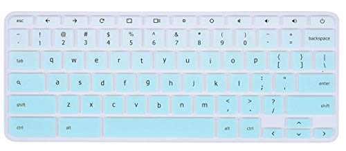 """Keyboard Cover Skins Compatible with Lenovo Chromebook C330 11.6"""" /Lenovo Flex 11 Chromebook 11.6"""" /Lenovo Chromebook N20 N21 N22 N23 / Chromebook N42 N42-20 14""""(Gradual Hot Blue)"""